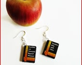 Teachers Gifts Earrings Miniature Book Charms on Sterling Silver Earwires