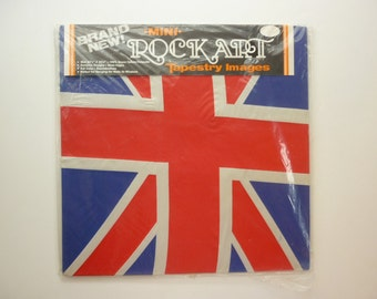 80s British Rock Invasion Wall Hanging / Art NIP NOS Union Jack