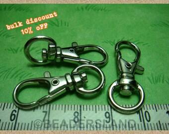 BULK -10% / Y117NC / 30 Pc / 32 x 12 mm - Key Hook / Triggered Keychain Findings