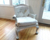 SOLD SOLD shabby chic patchwork vintage chair romantic farmhouse style