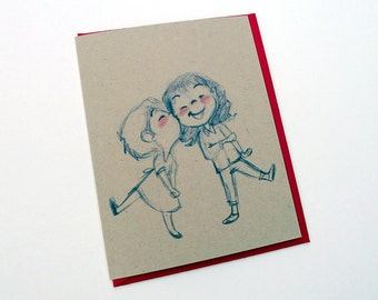 Sweet Kisses Greeting Card - valentines day // anniversary // love // lesbian // gay // wedding