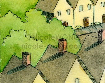 Archival ACEO Print -- Neighborhood