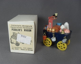 Sale! Vintage Shackman Miniature Peddler's Wagon - 2 Inches Long