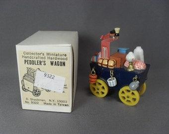 Sale! Vintage Shackman Miniature Peddler's Wagon - 2 Inches Long