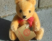 1980's HERMANN Teddy BEAR - Jointed with tags 5 inches tall ADORABLE