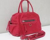 New Year SALE - 20% OFF HerMate in Red / Sling bag / Handheld / Hip bag / Everyday Purse / Hobo / Handbag / Women / For her / Gift ideas