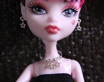 Silver Stars Doll Jewelry Set for Petite Slimline High Dolls