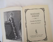 Madame Sarah Bernhardt Biography 1800s Theater Actress Vintage Book Cornelia Skinner Ecru Black Cloth Bound Famous Stage Star Life Story