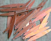 20 vintage raw metal sticks with copper finish