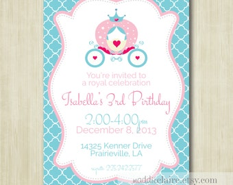 PRINTABLE Cinderella Princess Birthday Invitation