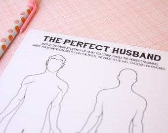 The Perfect Husband- Shower Activity
