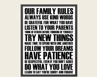 Family Rules Wall Art {insta-print}