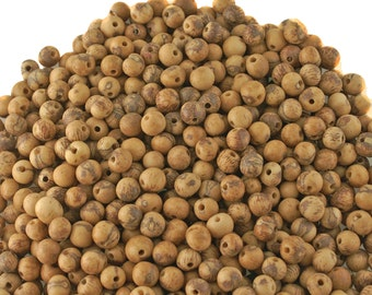 Acai Beads, Absoluetly Natural, 100 Acai Beads, Natural Seeds from the Amazon, South American Eco-Friendly Beads,  Yoga, Renewable, Brown