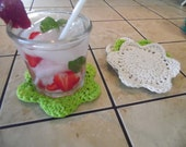 Coasters, Dish Scrubbies, Floral, USA Grown Cotton , 4 Pack, US Shipping Included