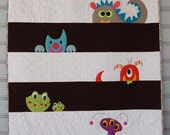 M is for Monster Quilt Kit with Backing Fabric