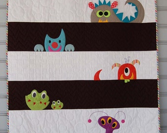 M is for Monster Quilt Pattern