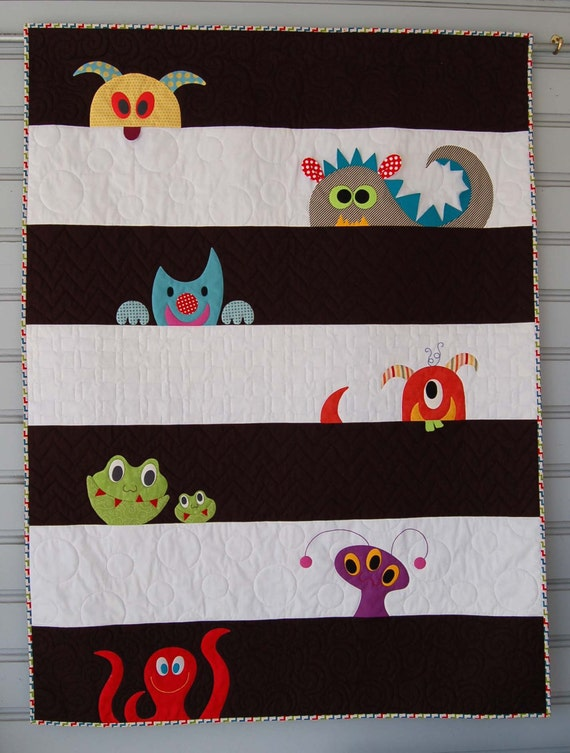 Pdf M Is For Monster Quilt Pattern In Pdf For Digital Download