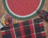 Leisure Arts Quick Crochet Throw Rugs 5 Designs by Sue Penrod/Crochet Rugs/Home Decor/Kitchen Rugs