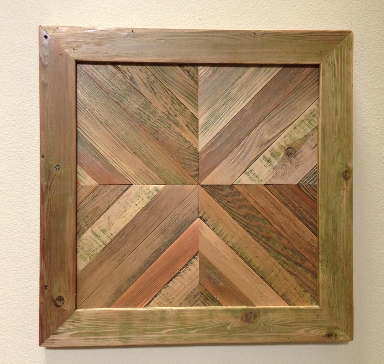 Reclaimed Wood Slat Wall Hanging