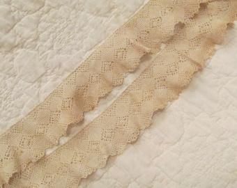 "Vintage Crocheted Lace 46"" x 2 1/2"" SALE"