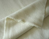 Natural Wool Fabric, One Quarter Yard of Felted Wool Flannel