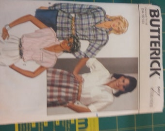Basic Shirt Blouse with Sleeve Options 14 16 18 Butterick 6471