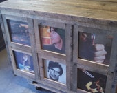 YOUR Custom Made Rustic Barn Wood Record Storage Cabinet with FREE SHIPPING - RC700