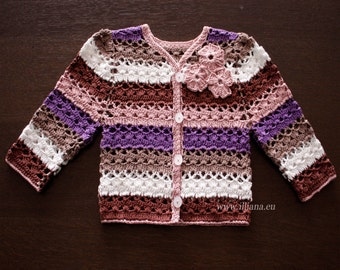 Classic Baby Cardigan Sweater  - PDF Crochet Pattern No 93