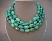 Everglade - Moss Opal Multi Strand Necklace