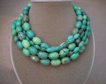 Everglade - Moss Opal Multi Strand Necklace