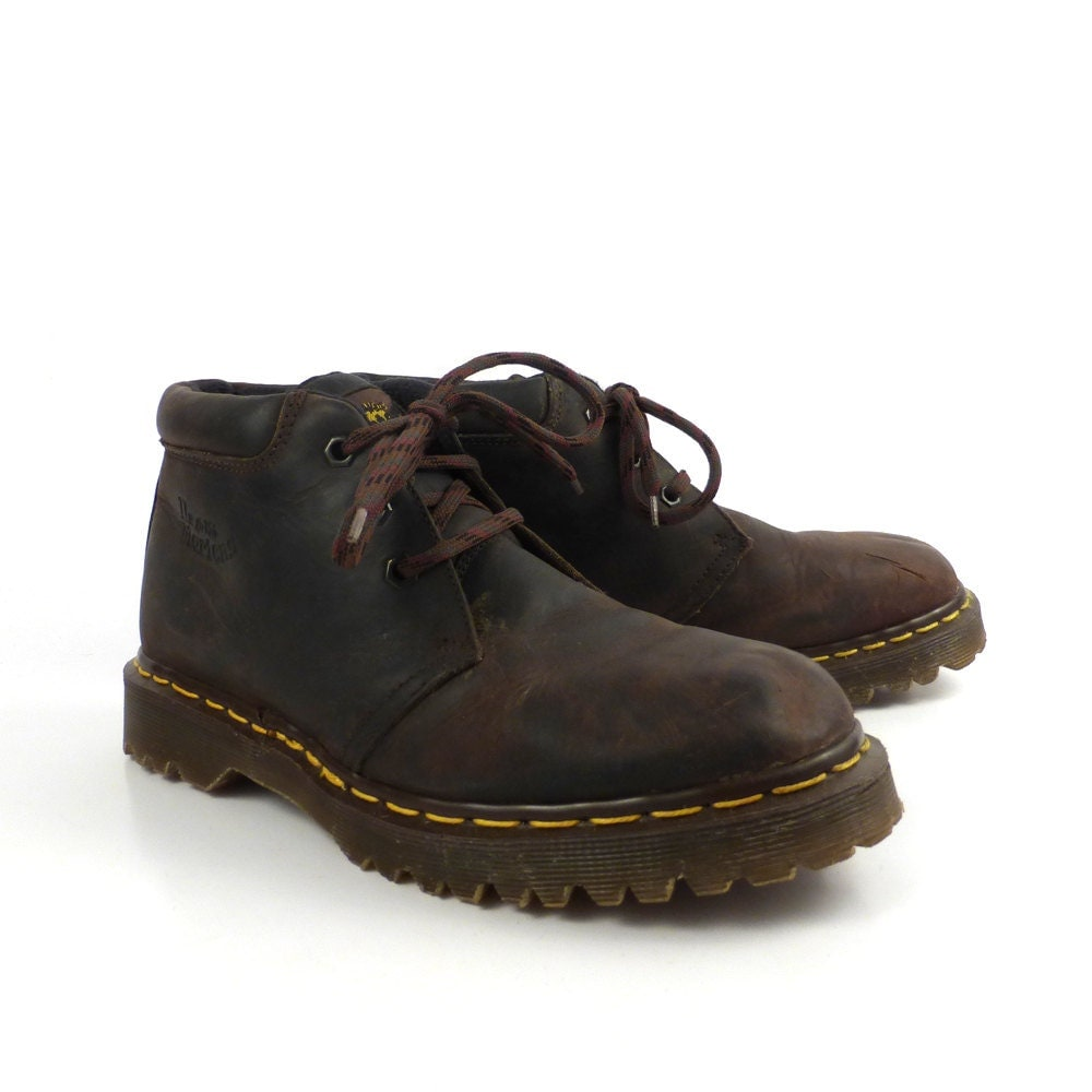 doc martens boots vintage 1990 brown dr 3 by