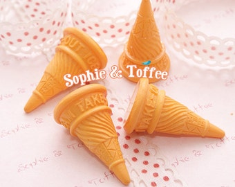 Ice Cream Cone Mini / Ice Cream Cone Miniature Decoden - 8pcs