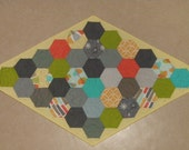 Modern Geometric Table Topper in Michael Miller Fabrics Reversible