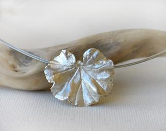 Geranium leaf Sterling Silver Pendant