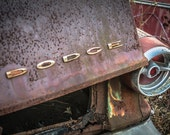 Dodge #4 - Ford, Chevy, Dodge, Color Silver Art Print - Grunge & Textures - Fine Art Photography - Wall Art