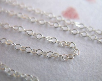 Silver Chain, 925 Sterling Silver Flat Cable Chain, 2x1.5 mm, 10 feet Bulk, 15-45% Less, SS..S88 hp