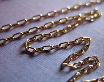 Shop Sale.. GOLD Chain, 14k Gold Filled Chain, 1.2 mm Elongated Drawn Oval Cable, 10-18% less wholesale ssgf sgf3