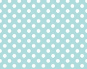 Twice as Nice Spice Dots in Blue by Riley Blake -  1 Yard