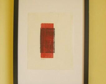 """Paths 05 - """"Creation"""" - Giclée Print of an Original Linocut Monoprint"""