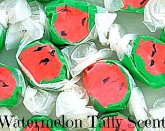 WATERMELON TAFFY SCeNTED Soy Wax Melts - Soy Tarts - Candy Scented - Wickless Candles - Hand Poured In USA - Highly Scented