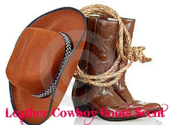 leather cowboy boots scented soy wax melts by