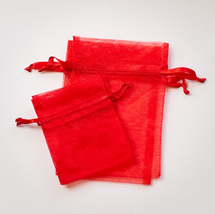 Red Wedding Gift Bags : Red Organza Bags Wedding Favor Organza Bags