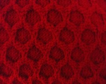 Red Honeycomb Afghan