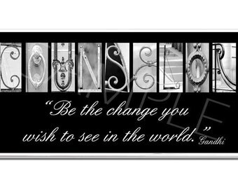 COUNSELOR  Inspirational Plaque black & white letter art