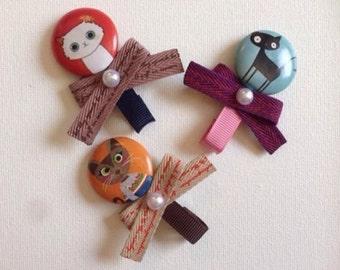 Button ribbon(set of 3)