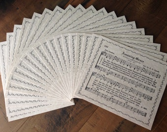 20 piece set of AMAZING GRACE Hymn with Border