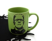 Frankenstein Monster Green Coffee Mug Great Gift for Him, Halloween birthday