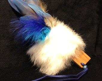 Indigo Spirit Smudging Feather -- 10 inches