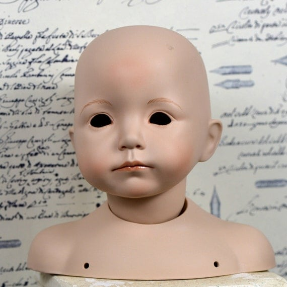 Extra Large Doll Parts Ceramic Porcelain Doll Head