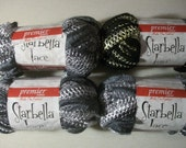 4 full skeins Starbella Lace - 2 shades